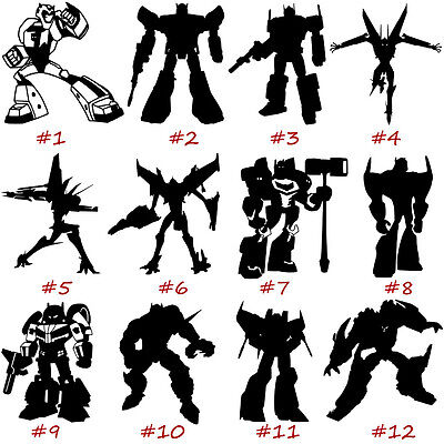 Transformers Vinyl Decal Sticker Car Window Art Wall Laptop Ipad Autobots Design