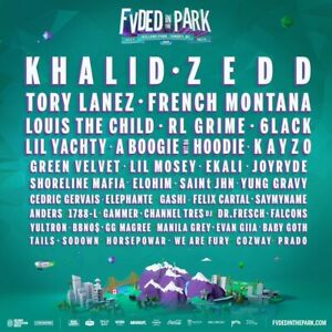 FVDED IN THE PARK 2-Day GA Ticket