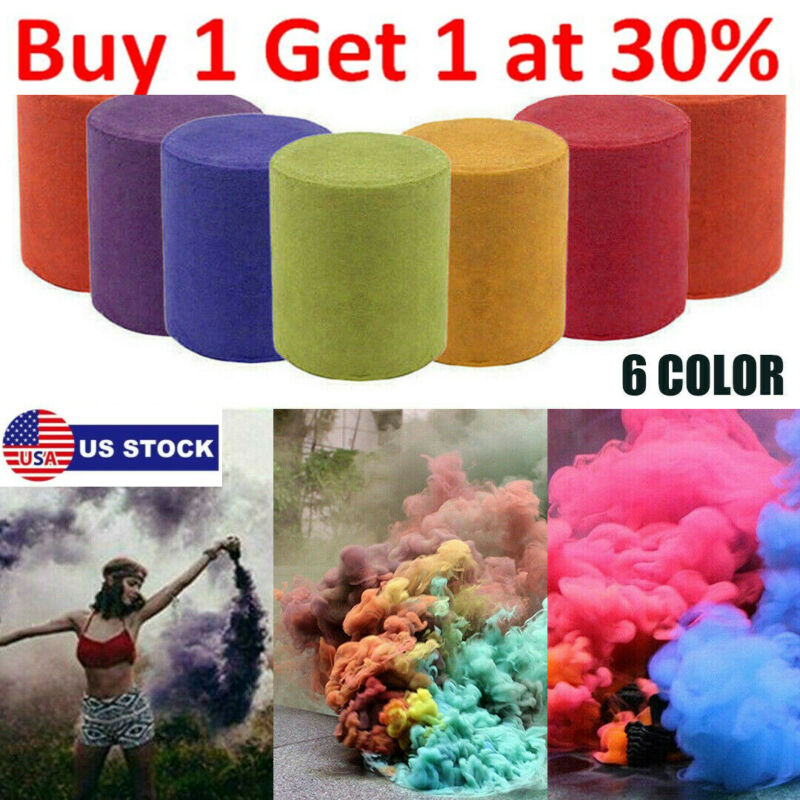 6X Multi-Colors Party Smoke Cake Smoke Effect Show Bomb Party Stage Fog USA