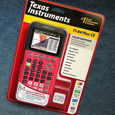 Brand new/sealed Texas Instruments Ti-84 Plus CE Graphing Calculator Coral Pink