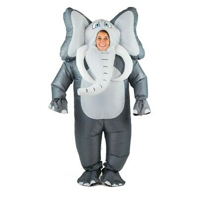 Bodysocks® Aufblasbares Elefanten Kostüm für Erwachsene Tier Zoo Safari - Für Erwachsener Elefant Kostüm