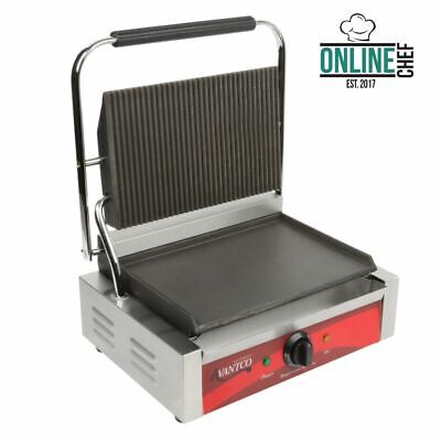 Avantco Commercial Panini Sandwich Press Grill - Countertop Restaurant Equipment