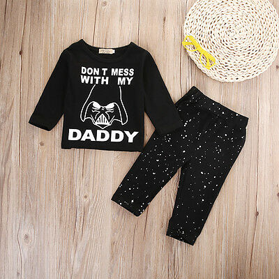 Baby Star Wars (US Stock Toddler Baby Boys Girls Star Wars Clothes Tops T-shirt Pants)