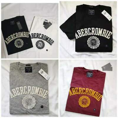 New Abercrombie A&F Men Applique Logo Graphic Tee $30