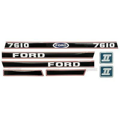 Ford 7610 Tractor Decal Set Aftermarket Replacement Hd Hood Decals Set