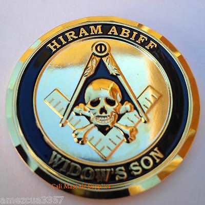 "Master Mason Hiram Abiff  Commemorative  Thick coin 1.75"" Freemasonry"