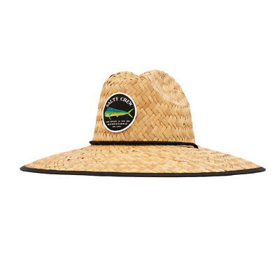 "Salty Crew ""Bruce"" Straw Hat (Black) Unisex Outdoor Sun Fishing Cap"