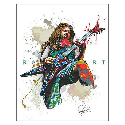 "Dimebag Darrell Pantera Heavy Metal Guitar 11x14"" Music Art Print Poster"