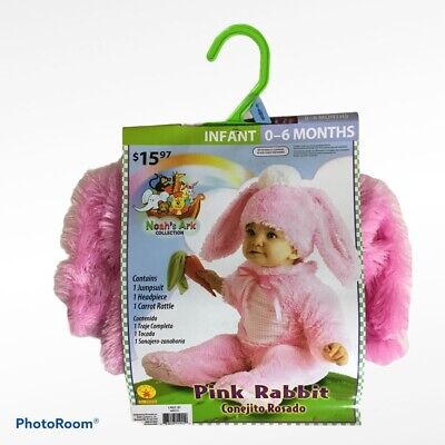 Pink Rabbit Bunny Costume Infant Baby Dress Up 0-6 Months Noah's Ark Collection