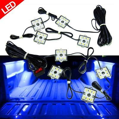 - 8PCS LED TRUCK BED LIGHTING KIT with SWITCH BLUE ACCENT