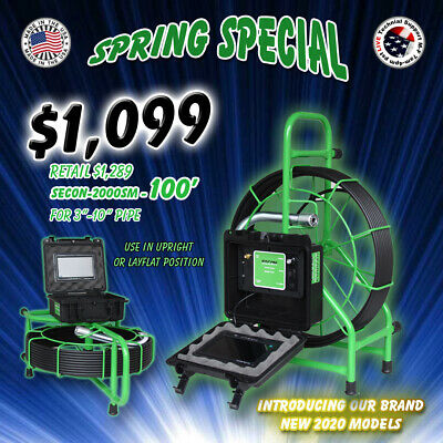 100 Usa Made Sewer Video Drain Inspection Camera 512hz Sonde Spring Sale