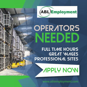 ***FORKLIFT ORDER PICKERS NEEDED!***