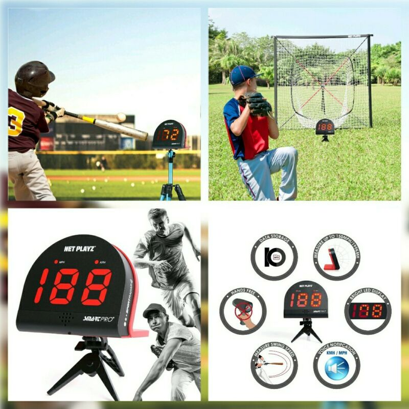 Speed Radar Gun Kit Net Playz Multi Sport Hands Free w Tripod & Carrying Bag