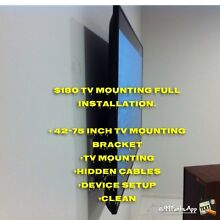 $180 TV BRACKET MOUNTING FULL INSTALL AND SETUP BRACKET INCLUDED Wyndham Vale Wyndham Area Preview