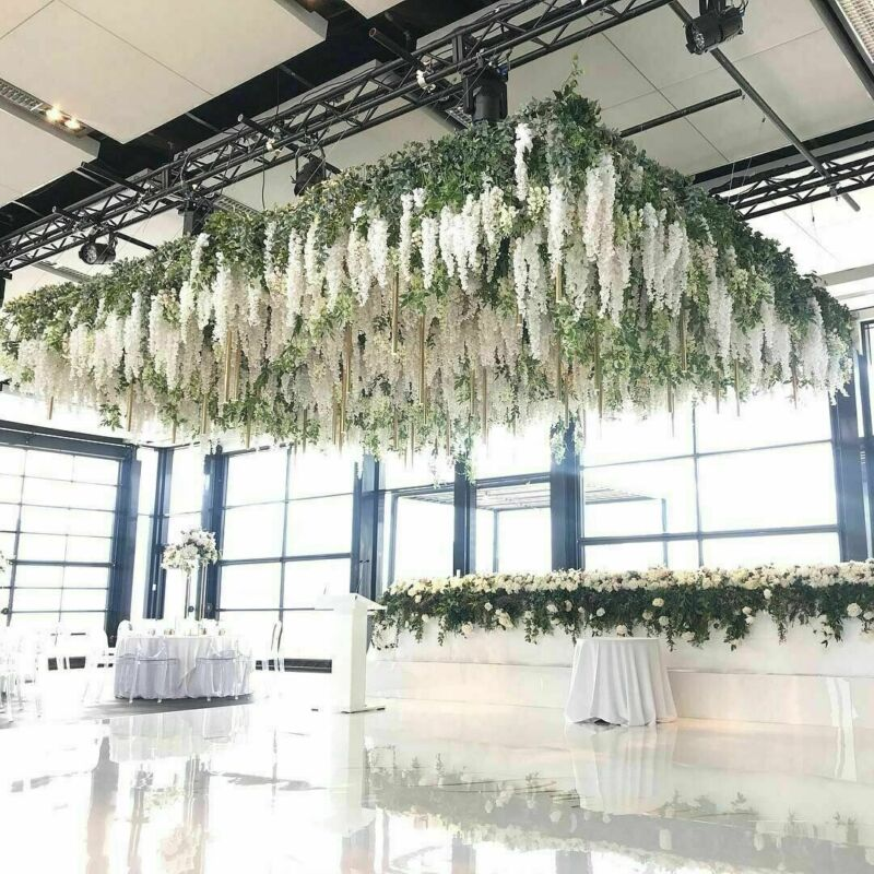 New 12Pack Artificial Wisteria Hanging Garland Flowers 3.6Ft Wedding Home Party