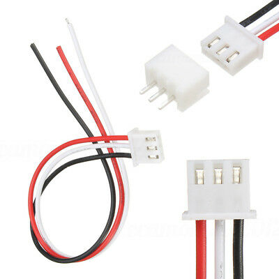 10sets 3-pin Mini Micro Xh2.54mm Socket Connector Plug With Wire Cable 2.54mm