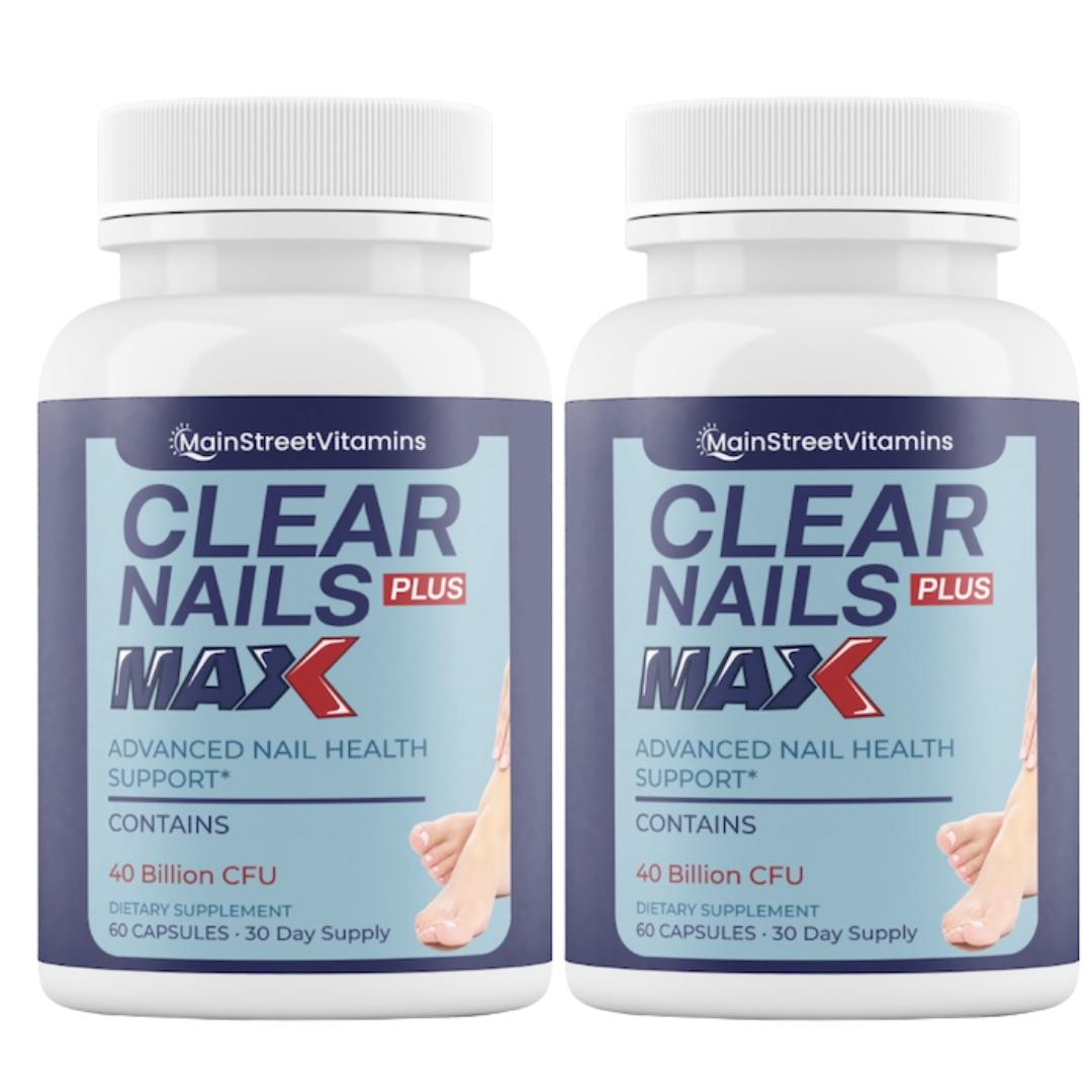 2 Clear Nails Plus Max - 40 Billion CFU - 60 Capsules - 120 Capsules - 2 Bottles
