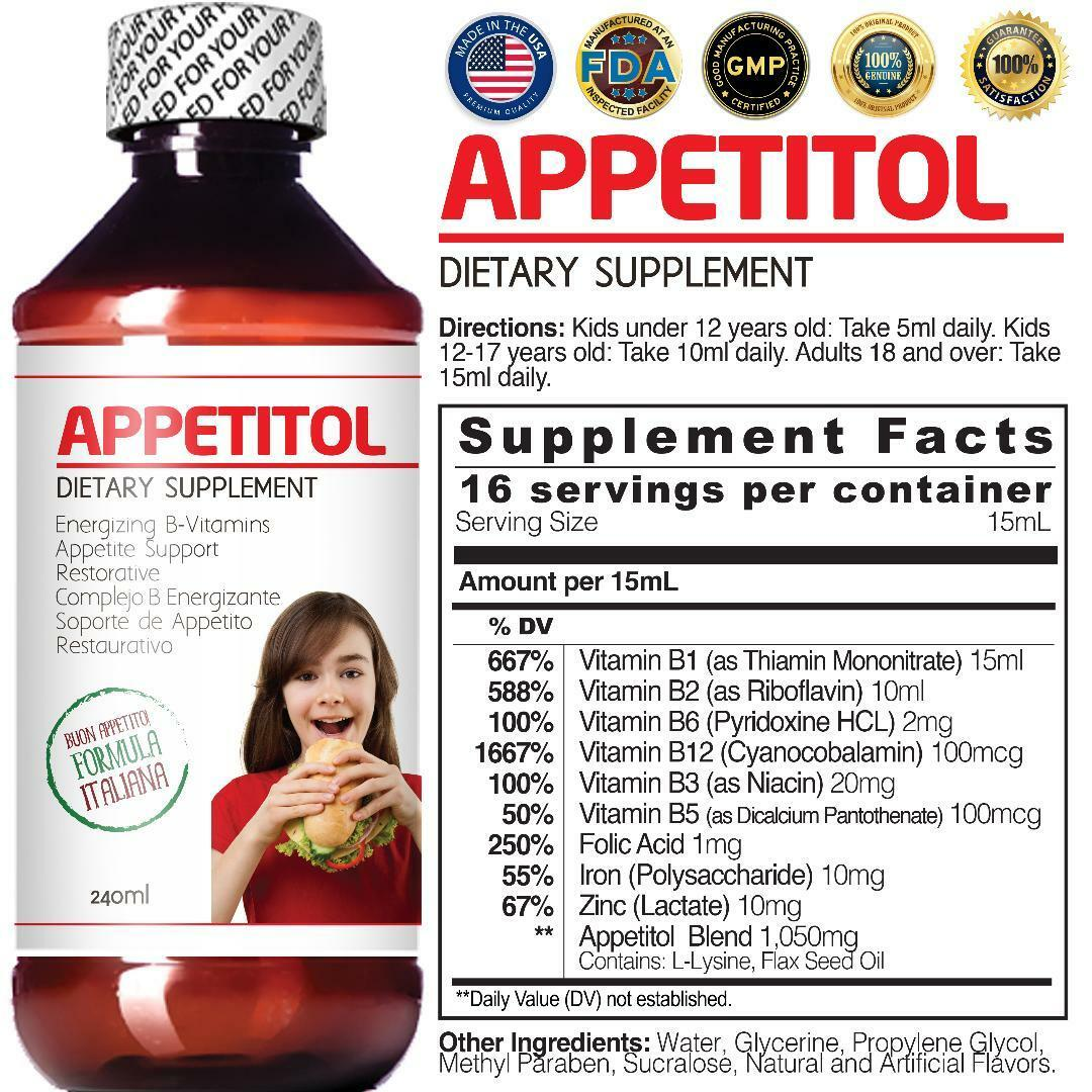 Appetitol - Appetite-Weight Gain Support 240 ml.Energizing -Restorative 1