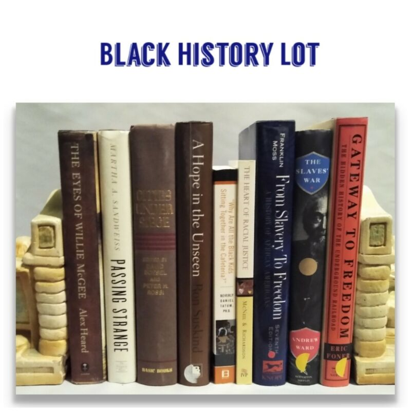 Lot of 9 BLACK HISTORY Books Biographies Stories, Freedom, Slave, Commentaries