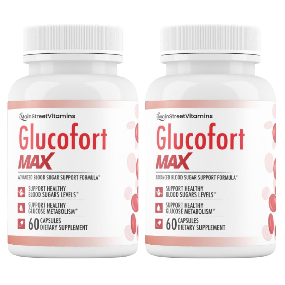 2 Glucofort Max Advanced Formula Blood Sugar Support Formula 120 Caps -2 Bottles