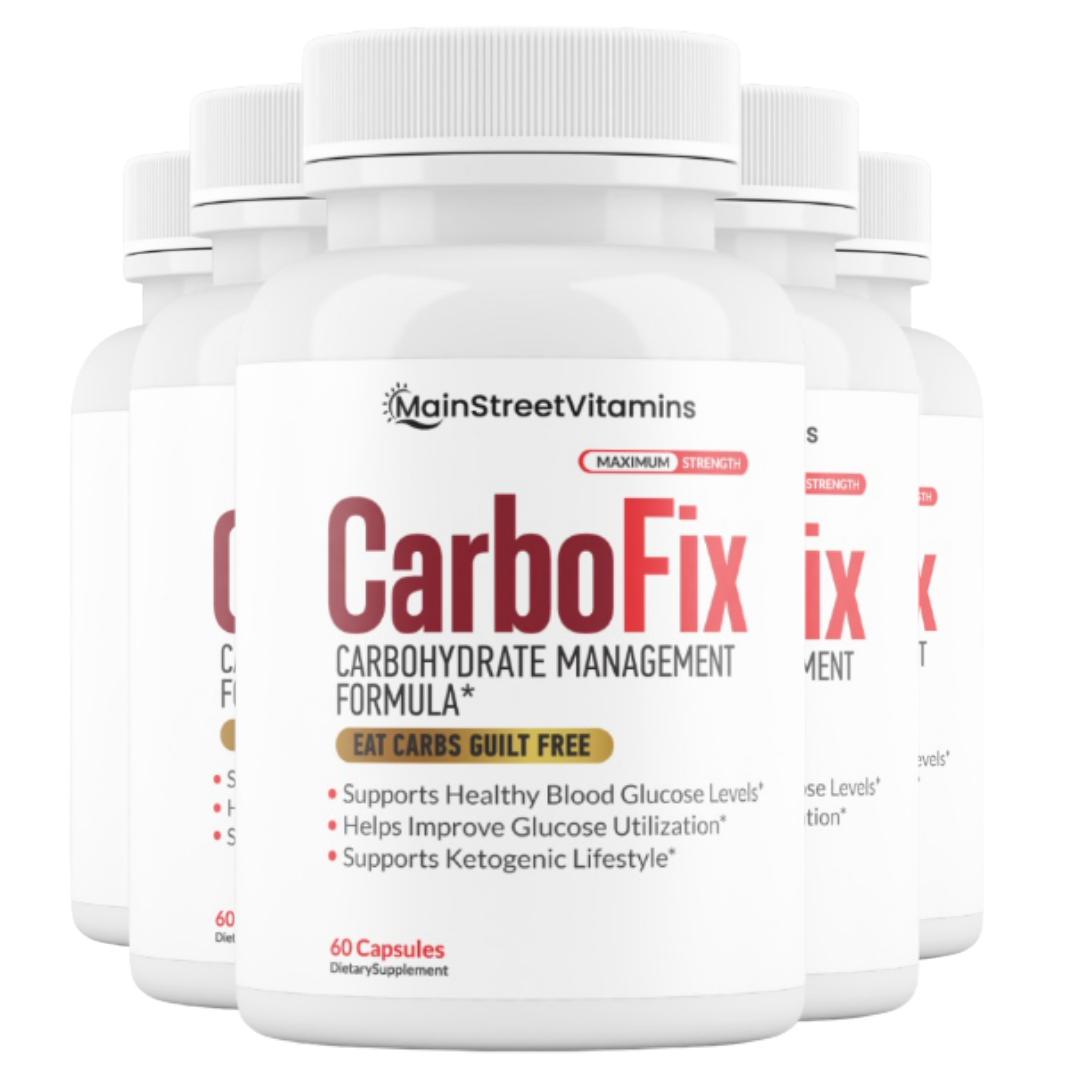 Carbo Fix Carbohydrate Management Carbofix Diet Pills 300 Capsules - 5 bottles