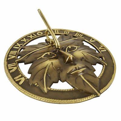 Antique Brass Greenman Sundial