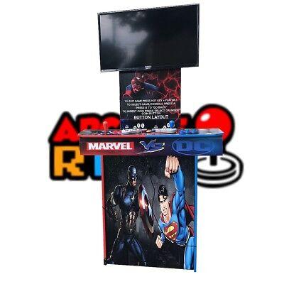 Arcaderway Marvel Vs Dc Arcade Machine Pedestal