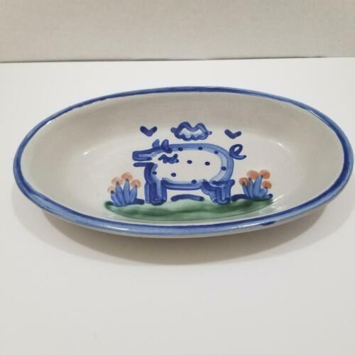 M.A. Hadley Folk Art Pottery Oval Dish