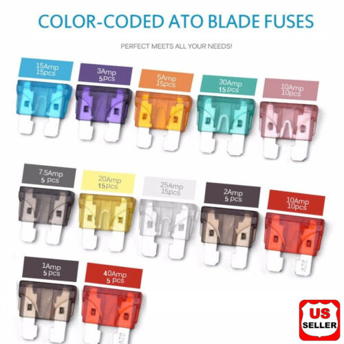 120 Pack ATC ATO APR ATS Blade Fuse Assortment Auto Car Motorcycle SUV FUSES Kit Business & Industrial