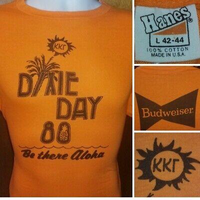 Vtg 1980 Kappa Kappa Gamma Dixie Day Hanes Orange Tag Frat T-shirt Large Beer