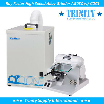 Ray Foster Ag03c Alloy Grinder W Dust Collector Dental Quality Powerful Usa