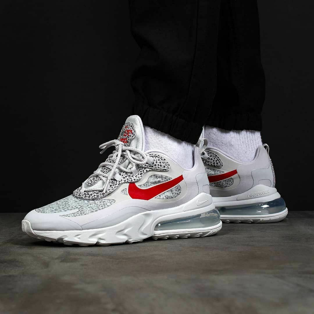 Nike air max 270 react homme chaussures gris safari camouflage uk 4.5 eu 37.5 5