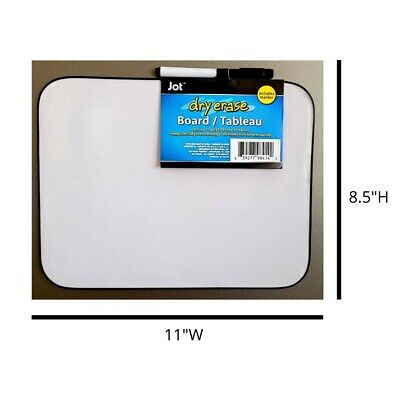 Jot Magnetic Dry Erase Board 8.5 X 11 Light Duty White Board With Black Marker