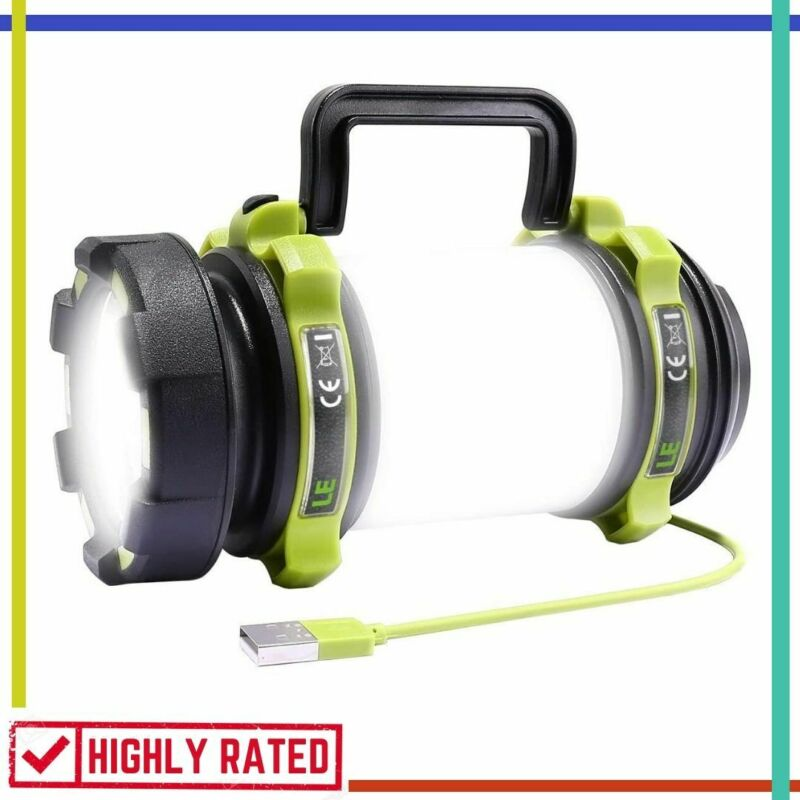 camping lantern rechargeable flashlight power bank waterproo