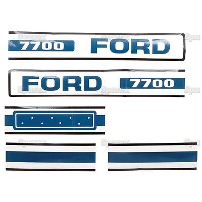 Ford Tractor 7700 Hood Decal Kit