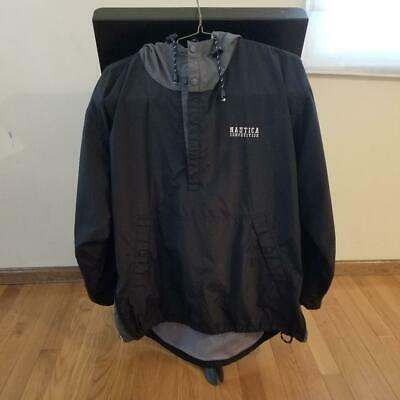 VTG Nautica Competition Blue Hooded Windbreaker Jacket Zip Side Mens Large A++