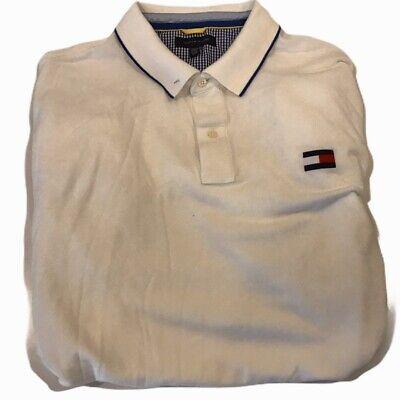 MENS Tommy Hilfiger Short Sleeve POLO SHIRT~WHITE~SZ 4XL