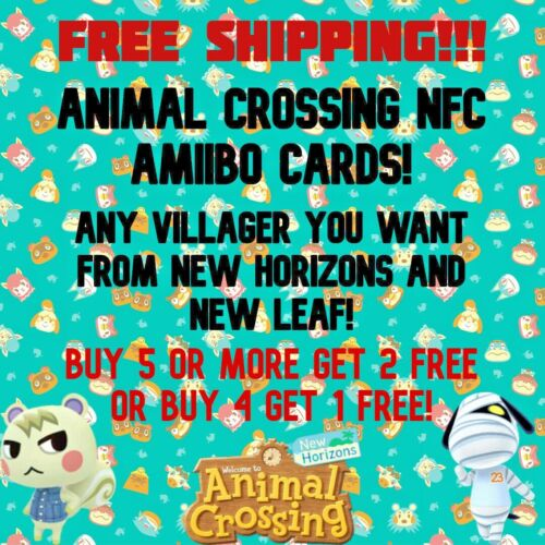 TOP 50 MOST POPULAR ANIMAL CROSSING NFC AMIIBO CARDS + ANY VILLAGER YOU WANT!