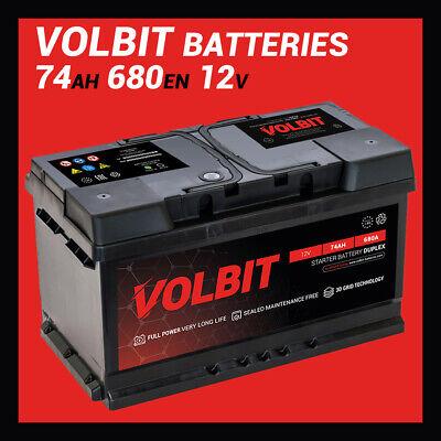 Batería Coche VOLBIT 74AH 680A En L3 Full-Power 270x175x190MM Positivo A Derecho