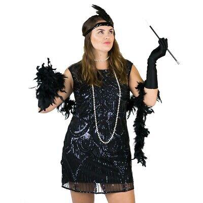 Bodysocks™ 1920 Stil Damen Frauen Kleid Flapper - Accessoires Zubehörteil (Flapper Kostüm Frau)