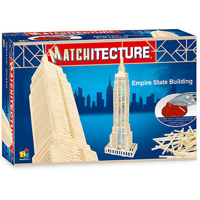 Modellbausatz Empire State Building Modell Stäbchen Holz Holzmodellbau Bausatz ()