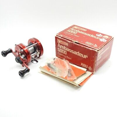 Abu Garcia Ambassadeur 5000 Fishing Reel. W/ Box and Manuals. Made in Sweden.