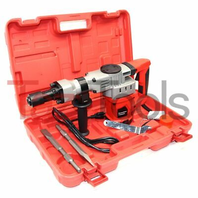 Demolition Hammer Drill 1-12 Punch Chisel Rotary Drill 1280w Heavy Duty Red