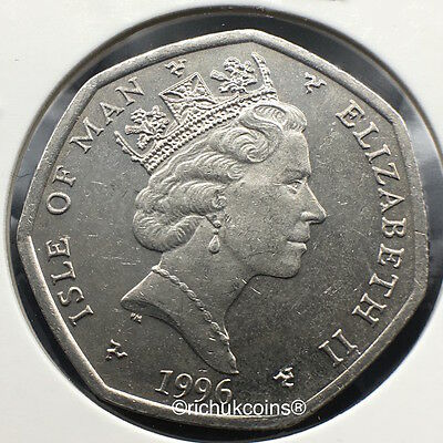 1996 T.T. Currency Type 50p Coin