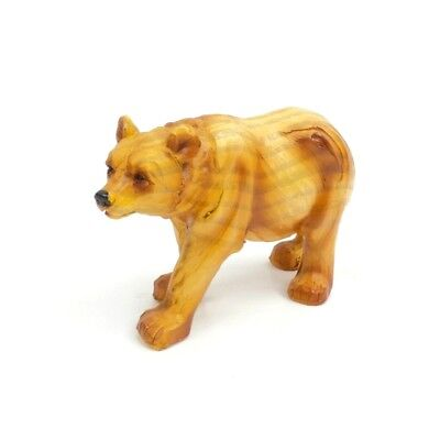 Small Black Bear (Small Black Bear Figurine Faux Carved Wood Grizzly Bear Collectible Statue)