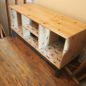 Pine storage unit/shelf