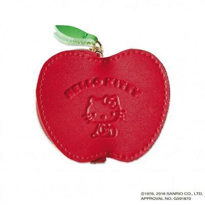 Hello Kitty Sanrio Apple (SANRIO HELLO KITTY COIN PURSE・ACCESSORY CASE APPLE TYPE CUTE  KAWAII NEW JAPAN)