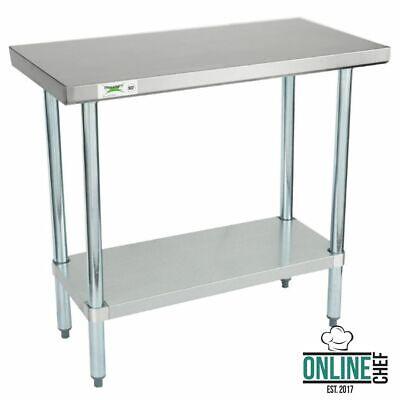 Stainless Steel Work Prep Shelf Table Commercial Restaurant 18 Gauge 18 X 36
