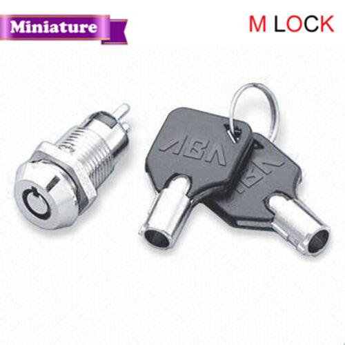 Lot of 2 Miniture Electronic Tubular Round Key Switch Lock Keyed alike 2100BS
