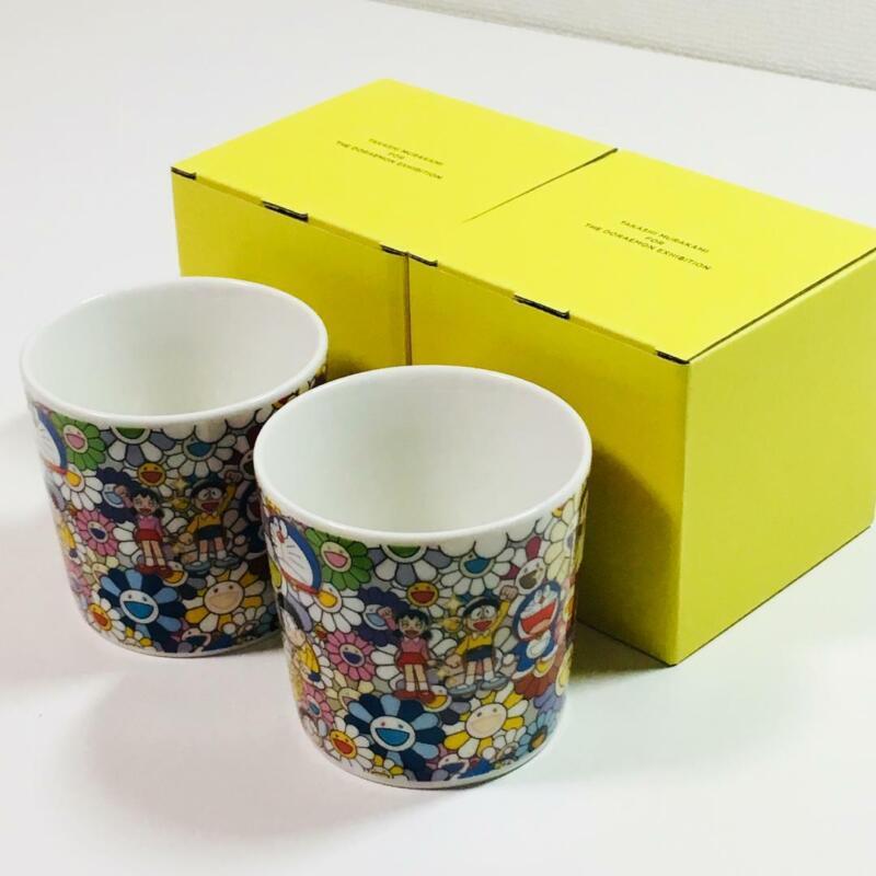 Set of 2 Mug Cup Flower Kaikai Kiki Takashi Murakami Doraemon Exhibition